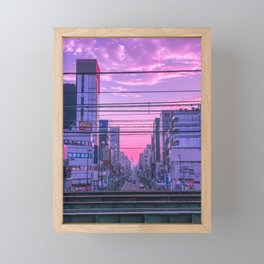 Tokyo Skies Framed Mini Art Print