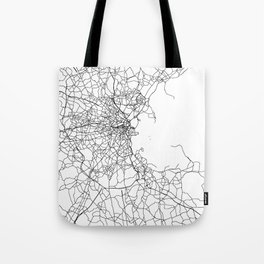 Boston Massachusetts Street Map Minimal Tote Bag