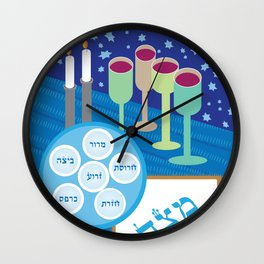 Passover Table Wall Clock