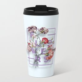 Flowers Bloom Botanicals Vintage Illustration Poster #3 Metal Travel Mug