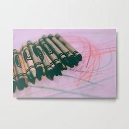 crayons, greens & yellows Metal Print