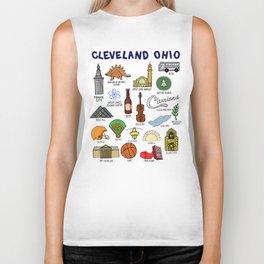 Cleveland Ohio Icons Biker Tank