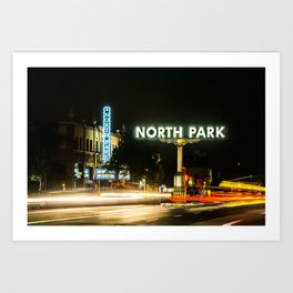 North Park (San Diego) Sign - SD Signs Series #1 Art Print