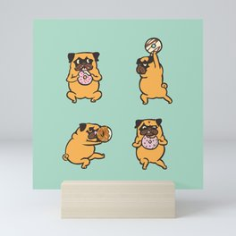 Donut Skip Legday with The Pug Mini Art Print