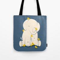Tote Bags featuring Big Mama by Jay Fleck