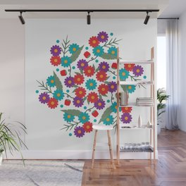Flower Swirl Spring Daisy Thing Wall Mural
