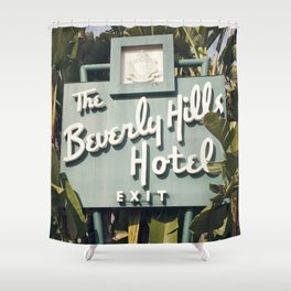 Beverly Hills Hotel Shower Curtain