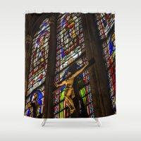 jesus Shower Curtains featuring Jesus by Gunjan Marwah