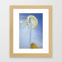 Ice and a Slice. Framed Art Print