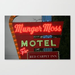 Route 66 - Munger Moss Motel 2008 Canvas Print