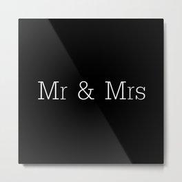 Mr & Mrs Monogram Standard Metal Print