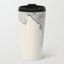 'Inheritance' (6 of 6). Original ink drawings re-coloured in Photoshop. (Other colourways available) Metal Travel Mug