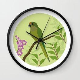 Peach-fronted Parakeet Wall Clock