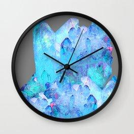 AURAL BLUE CRYSTALS ART Wall Clock