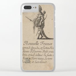 Game of Geography - New France, Canada (Stefano della Bella, 1644) Clear iPhone Case