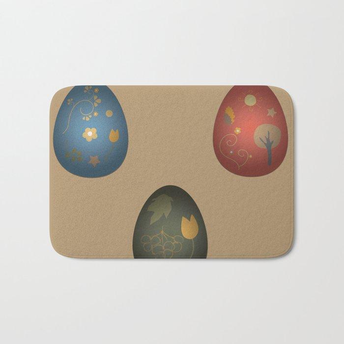 Easter Eggs Bath Mat By Cozy_designs