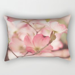 Pink Dogwood, 3 Rectangular Pillow