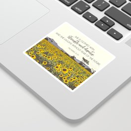 Proverbs and Sunflowers Sticker
