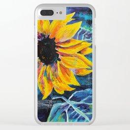 Sunshine Daisy Butter Mellow Clear iPhone Case