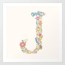 Alphabet J Art Print