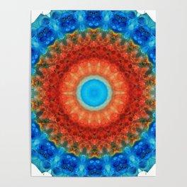 Seeing Mandala 2 - Spiritual Art By Sharon Cummings Poster