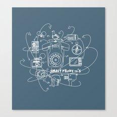 Smartphone 70's Canvas Print