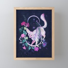 Cosmic Fox Framed Mini Art Print