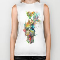 color Biker Tanks featuring Dream Theory by Archan Nair