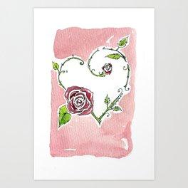 Heart of Roses Art Print