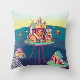 Cinderella's Castle Throw Pillow