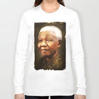 mandela Long Sleeve T-shirts featuring Mandela by Kimberley Britt