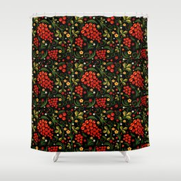 Khokhloma print Shower Curtain