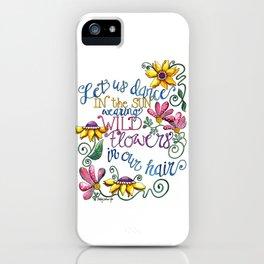 Let Us Dance iPhone Case