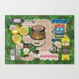 Hummus Recipe Canvas Print