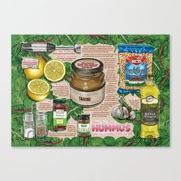 Hummus Recipe Canvas Print