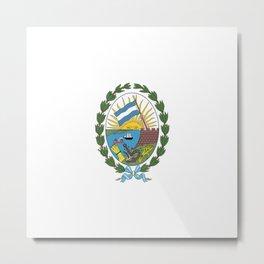 Flag of Rosario, Argentina Metal Print
