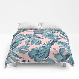 Island Life Teal on Light Pink Comforters