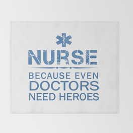 NURSE HEROES Throw Blanket