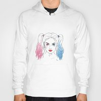 harley quinn Hoodies featuring Harley Quinn by Lazy Daisy