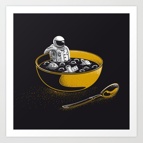 Space Flakes Art Print