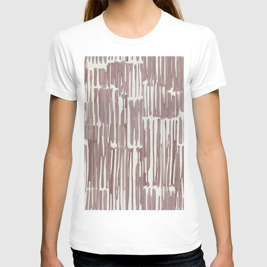 Simply Bamboo Brushstroke Red Earth on Lunar Gray by followmeinstead
