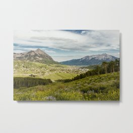 Mount Crested Butte and Town Metal Print