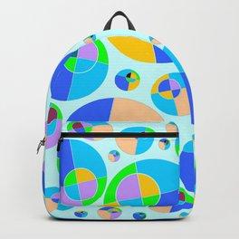 Bubble blue & orange Backpack