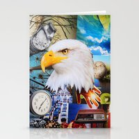 eagle Stationery Cards featuring Eagle by John Turck