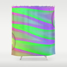 Colors swimming on grey Shower Curtain