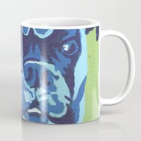 boxer Mugs featuring Boxer by mkfineart
