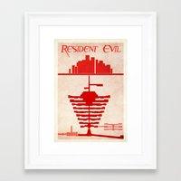 resident evil Framed Art Prints featuring Resident Evil by JackEmmett