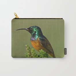 Orange Breasted Honey Bird Carry-All Pouch