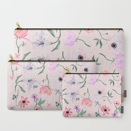 PINK LILY PRINT Carry-All Pouch