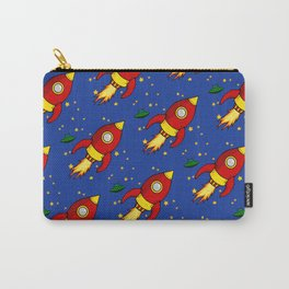 Space Rocket Pattern Carry-All Pouch